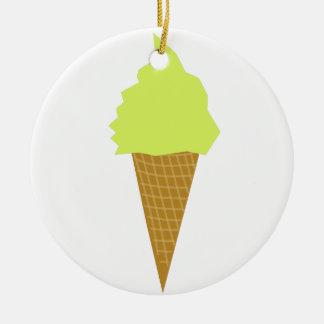 Ornement Rond En Céramique jaune de style d'amusement de crème glacée