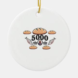 Ornement Rond En Céramique JC alimente 5000 âmes