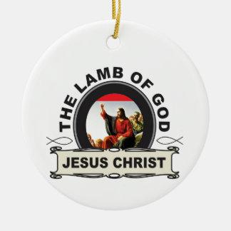 Ornement Rond En Céramique jc l'agneau d'un dieu