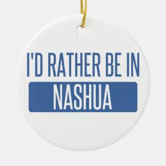 Ornement Rond En Céramique Je serais plutôt à Nashua