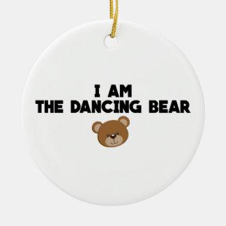Ornement Rond En Céramique Je suis l'ours de danse