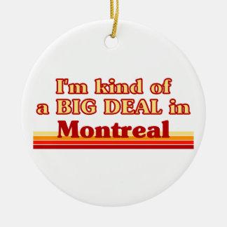 Ornement Rond En Céramique Je suis un peu une affaire à Montréal