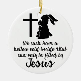 Ornement Rond En Céramique Jésus remplit lapin nul creux Pâques