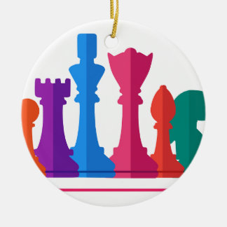 Ornement Rond En Céramique Jeu d'échecs