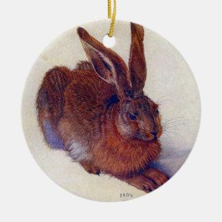 Ornement Rond En Céramique Jeunes lièvres par Albrecht Durer, beaux-arts de