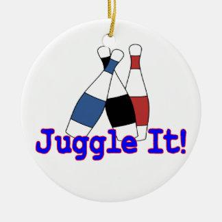 Ornement Rond En Céramique Jonglez-le jongleur