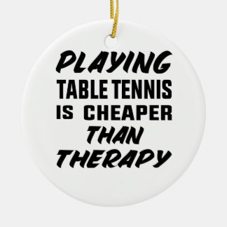 Ornement Rond En Céramique Jouer au ping-pong est meilleur marché que la