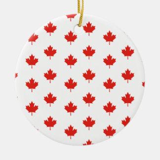 Ornement Rond En Céramique Jour de nation de pays d'emblème du Canada de