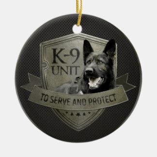 Ornement Rond En Céramique K-9 unité GSD - chien de berger allemand de
