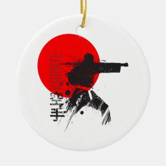 Ornement Rond En Céramique Karaté Japon
