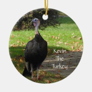 Ornement Rond En Céramique Kevin la Turquie - vieux Wethersfield, CT (2