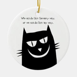 Ornement Rond En Céramique Kitty indique : Nous pouvons faire de cette MA
