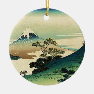 Ornement Rond En Céramique Koshu Inume Toge - art de Katsushika Hokusai
