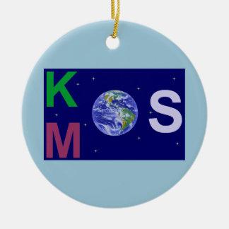 Ornement Rond En Céramique Kosmos étoilé