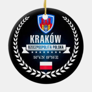 Ornement Rond En Céramique Kraków
