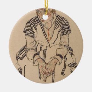 Ornement Rond En Céramique La belle-soeur de l'artiste d'Egon Schiele-