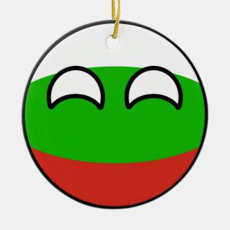 Ornement Rond En Céramique La Bulgarie Geeky tendante drôle Countryball
