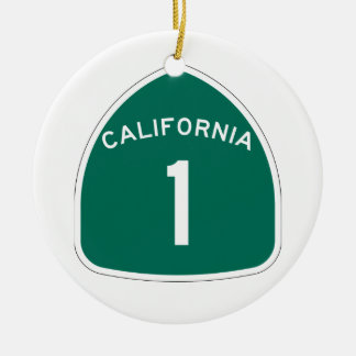 Ornement Rond En Céramique La Californie 1