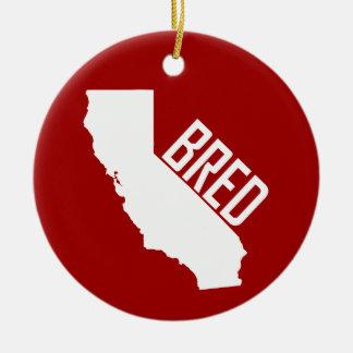 Ornement Rond En Céramique La Californie a multiplié