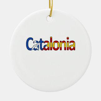 Ornement Rond En Céramique La Catalogne