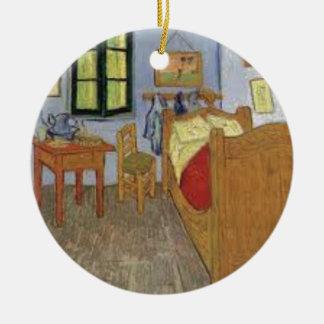 Ornement Rond En Céramique La chambre de Vincent Van Gogh (The room)