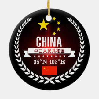 Ornement Rond En Céramique La Chine