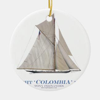 Ornement Rond En Céramique La Colombie 1899