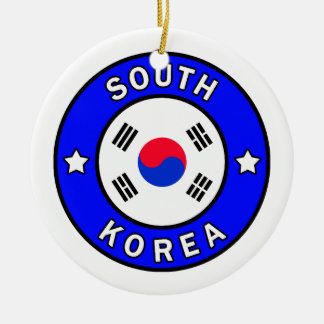 Ornement Rond En Céramique La Corée du Sud