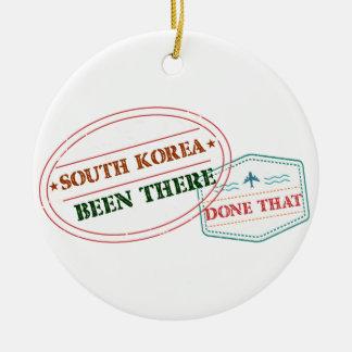 Ornement Rond En Céramique La Corée du Sud là fait cela