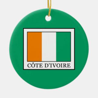 Ornement Rond En Céramique La Côte d'Ivoire