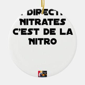 Ornement Rond En Céramique La Directive Nitrates, c'est de la Nitro - Jeux de