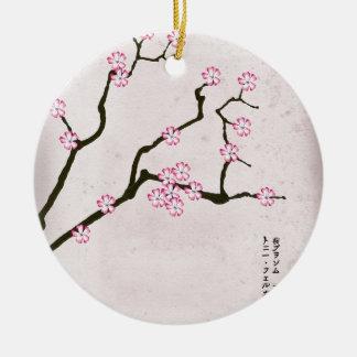 Ornement Rond En Céramique la fleur antique 4 des fernandes élégants