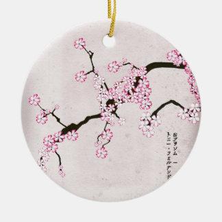 Ornement Rond En Céramique la fleur antique 9 des fernandes élégants