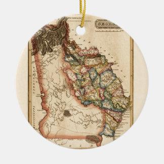 Ornement Rond En Céramique La Géorgie 1817