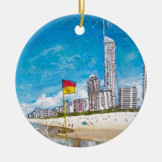 Ornement Rond En Céramique La Gold Coast