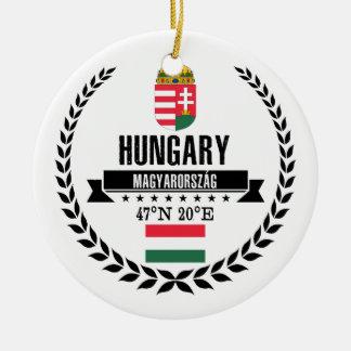 Ornement Rond En Céramique La Hongrie