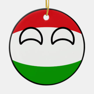 Ornement Rond En Céramique La Hongrie Geeky tendante drôle Countryball