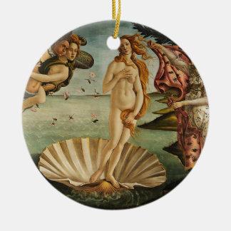 Ornement Rond En Céramique La naissance de Vénus - Sandro Botticelli