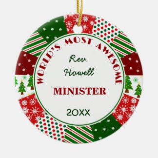 Ornement Rond En Céramique La plupart de ministre impressionnant ou de nom