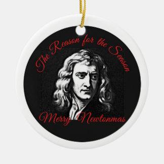Ornement Rond En Céramique La raison de la saison - joyeux Newtonmas