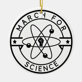 Ornement Rond En Céramique la science de march_for