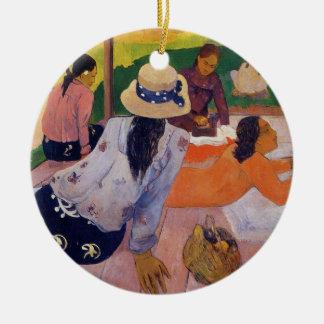 Ornement Rond En Céramique La sièste - Paul Gauguin