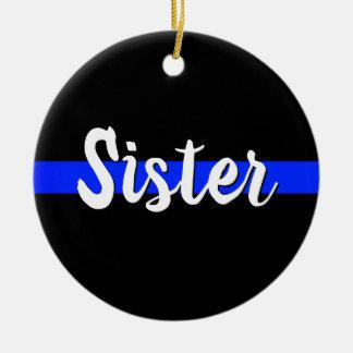 Ornement Rond En Céramique La soeur Blue Line mince ornementent Noël LION