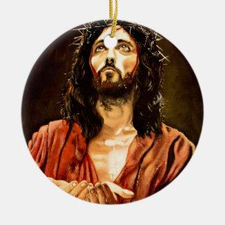 Ornement Rond En Céramique La souffrance du Christ.JPG