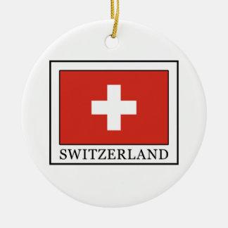 Ornement Rond En Céramique La Suisse