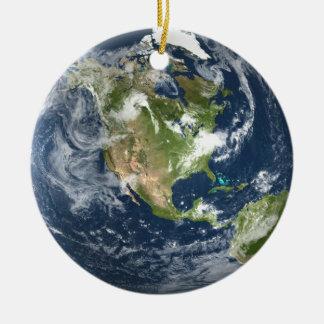 Ornement Rond En Céramique La terre de planète