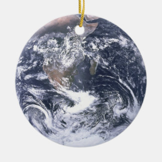 Ornement Rond En Céramique La terre de planète du jour de la terre de
