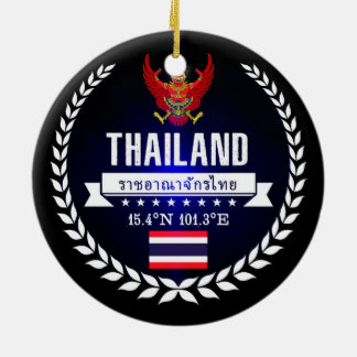 Ornement Rond En Céramique La Thaïlande