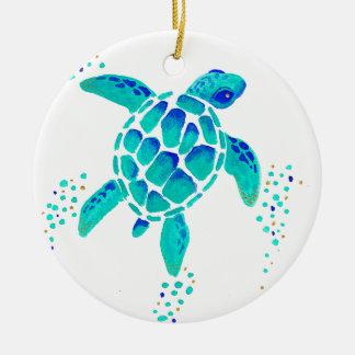 Ornement Rond En Céramique La tortue de Neptune