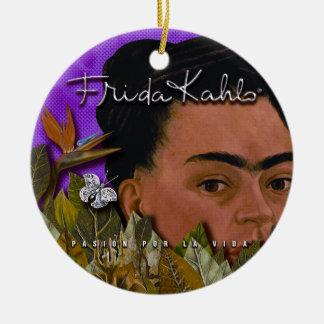 Ornement Rond En Céramique La Vida de Frida Kahlo Pasion Por